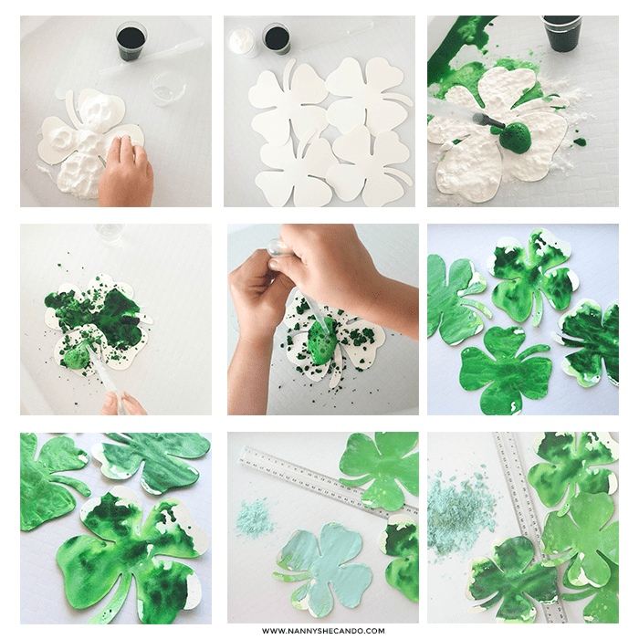 St Patricks Day Fizzing Shamrocks Craft_5