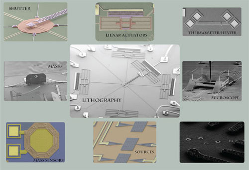 Scanning electron micrographs of MEMS device