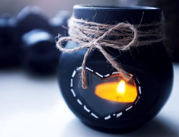 świecznik ze słoika