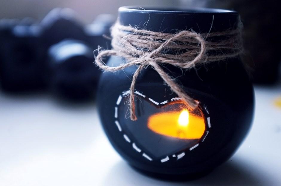 recykling świecznik