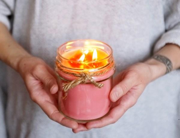 jak zrobić świeczkę z resztek