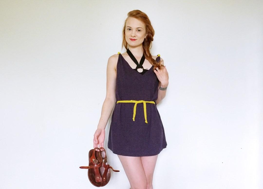 sukienka z t-shirta