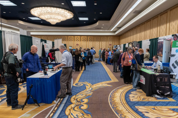 Exhibit hall at NANPA's 2019 Nature Photography Summit. Photo by Frank Gallagher