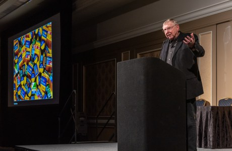 George Lepp reflecting on his career in a keynote at the 2019 Nature Photography Summit.