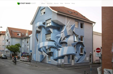 STADT/WAND/KUNST (City/Wall/Art) Every year in the German city of Mannheim, artists are invited to create murals on the sides of buildings, turning gray walls into a public art gallery. https://www.stadt-wand-kunst.de/