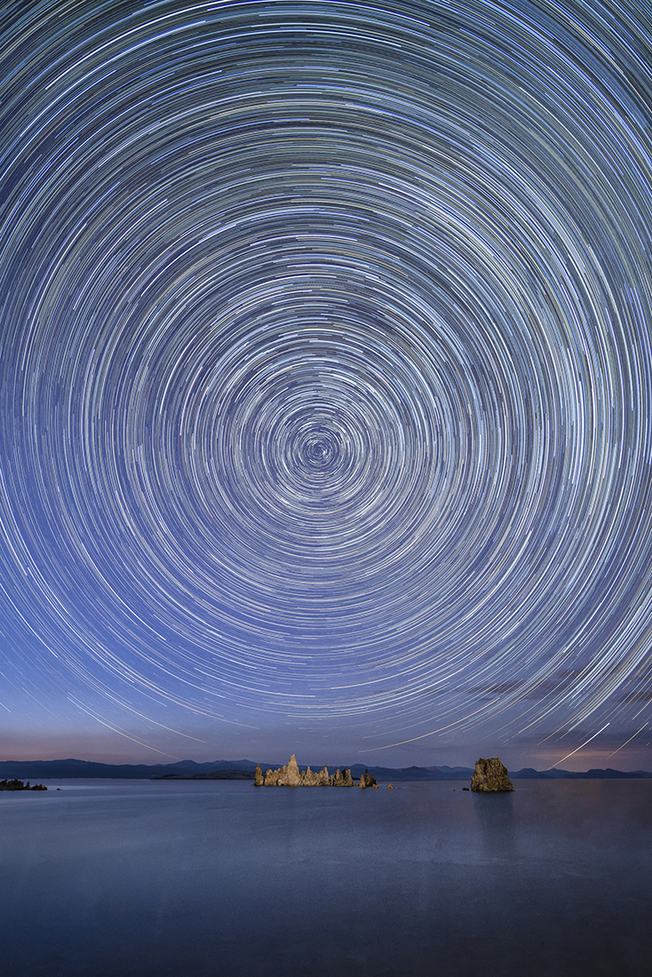 "Showcase 2020 Top 100 winner: ""Star Trails Over Mono Lake, Mono Lake, Eastern Sierra California © Alice Cahill."