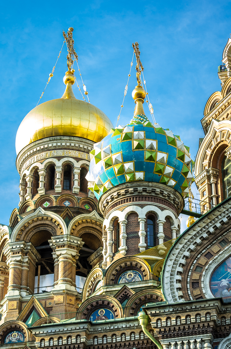 Magnificently decorated Church on the Spilled Blood in St. Petersburg, Russia.