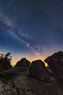 Summer Solstice, Milky Way over Bear Hill Preserve, Cragsmoor, NY