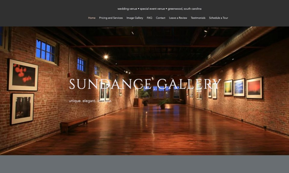 Jon Holloway owns and operates the sundance Gallery in Greenwood, SC.