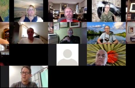 Screen grab of some of the participants on a recent NANPA Zoom call for professional nature photographers.