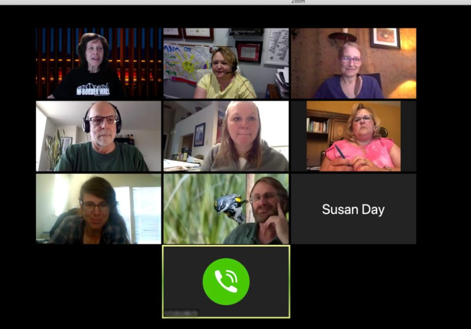 Screen shot: Like almost everything else in our professional lives, NANPA's monthly communications meetings have moved to Zoom.