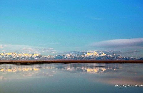 This is a view of the Arctic National Wildlife Refuge (ANWR) from my campsite on an Arctic Ocean sand spit looking across to Brooks Mountains. © Bernard P. Friel