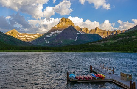 Visitors won't be seeing this view of Mount Wilbur across Swiftcurrent Lake in Glacier National Park, Montana this year. © Frank Gallagher
