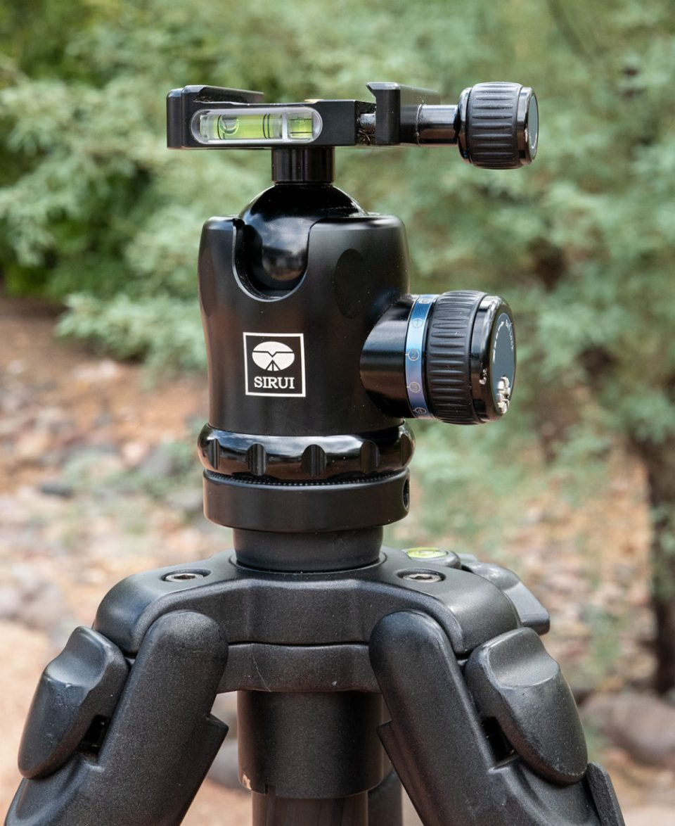 Sirui Ball Head Mounted on Carbon Fiber Tripod © Bob Coates