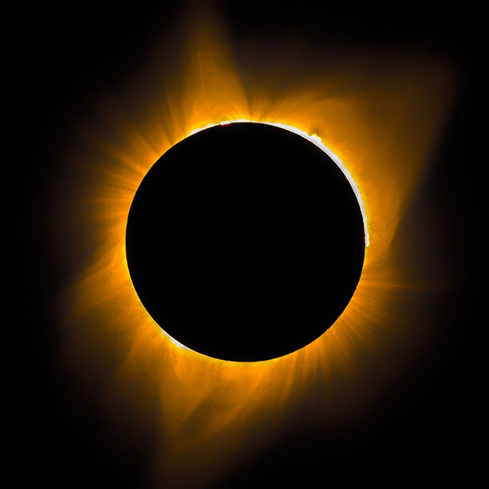 Solar eclipse, image by Mark Hayward