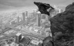 Guardian of the City, Dubai and Death Valley, Altered Reality image by Jan Lightfoot