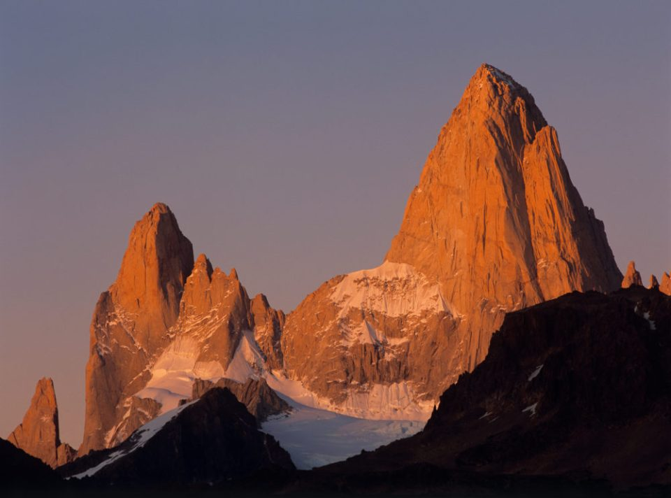 Evening Light on Mt. FitzRoy and Cerro Torre © Jerry Ginsberg