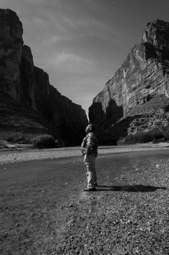 © Lee Hoy took this self-portrait at about 3:30 a.m., Santa Elena Canyon, Big Bend National Park.