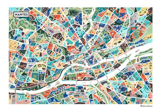 Plan de Nantes par Antoine Corbineau