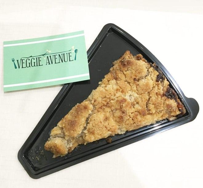 Crumble sans gluten chez Veggie avenue restaurant végétarien à Nantes
