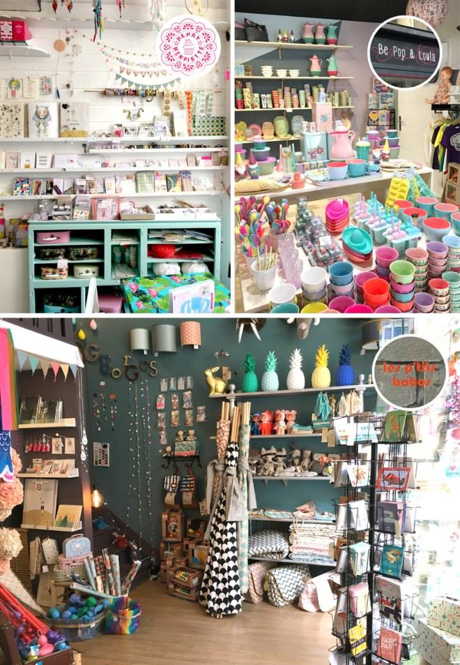 3 boutiques nantaises : Henry et Henriette, Be pop et Loula et les Ptits bobos