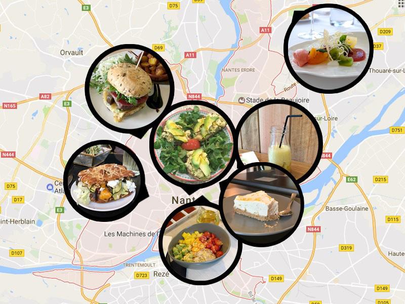 Carte de bonnes adresses où bien manger à Nantes