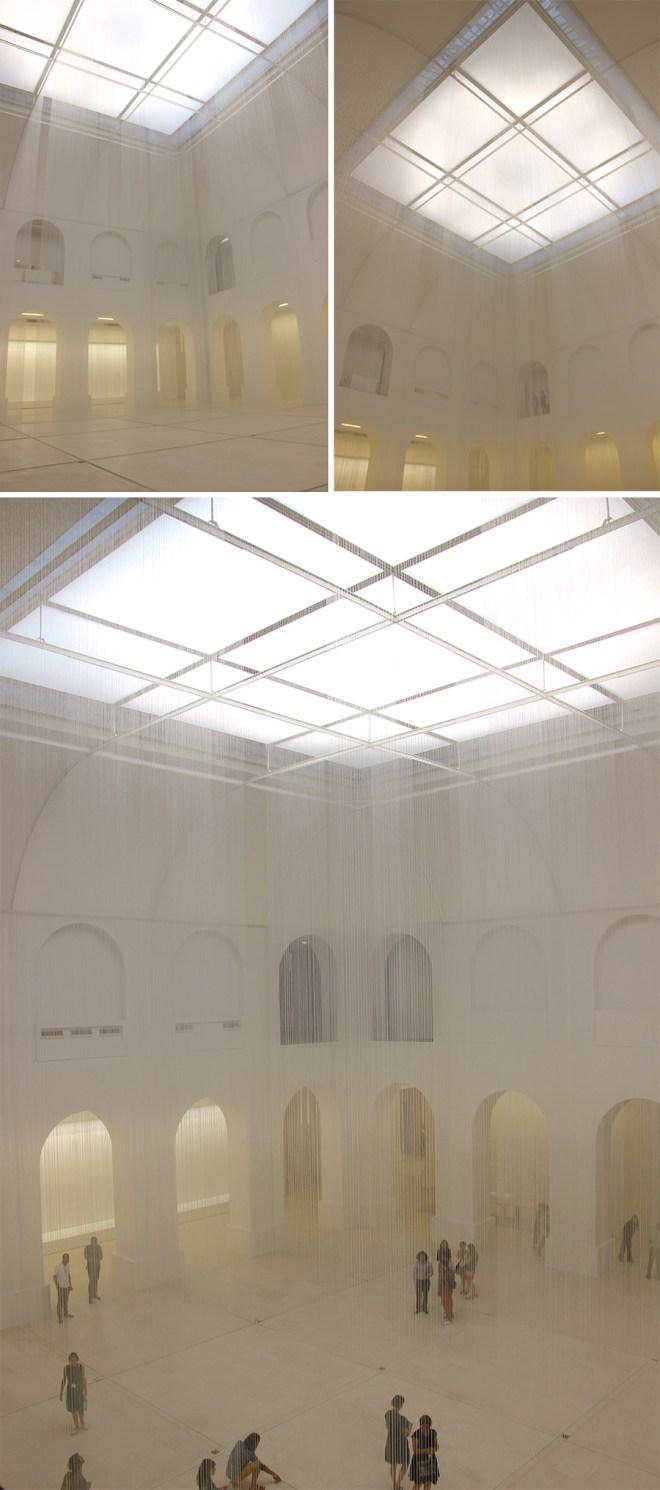 """Installation """"De l'air, de la lumière et du temps"""" de Susanna Fritscher au Musée d'arts de Nantes"""
