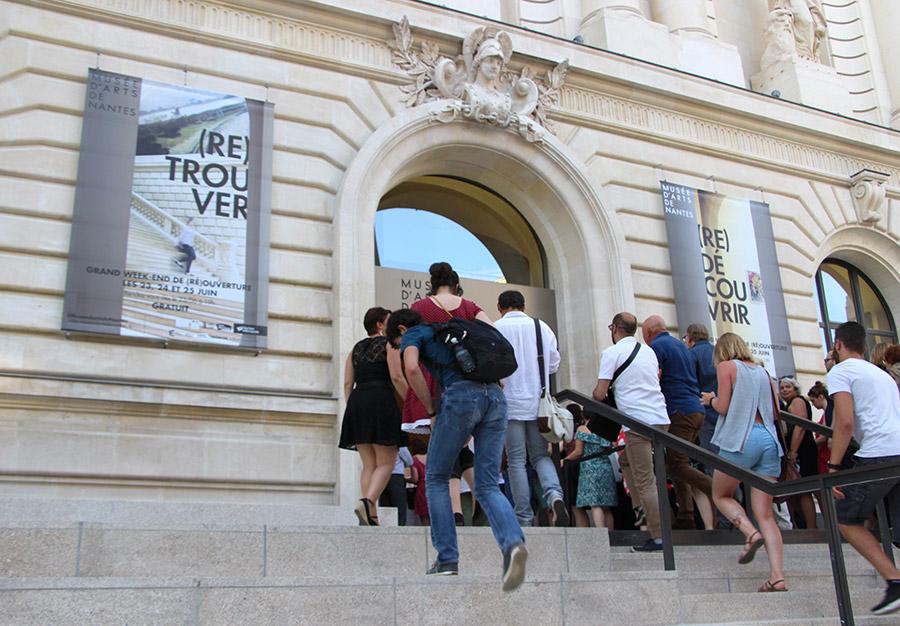 Extérieur du bâtiment du Musée d'arts de Nantes