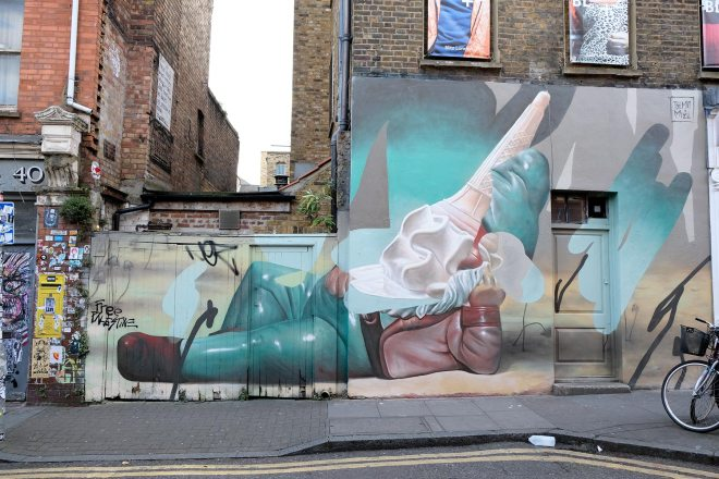 Balade street art à Londres : graff, peinture, collages, installations...