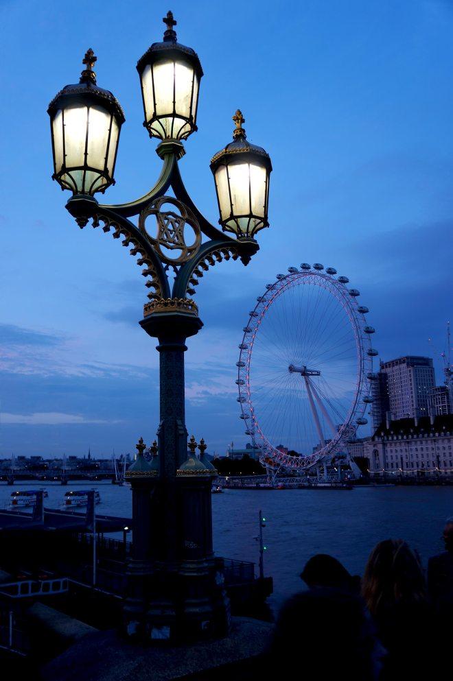 London eye la nuit à Londres