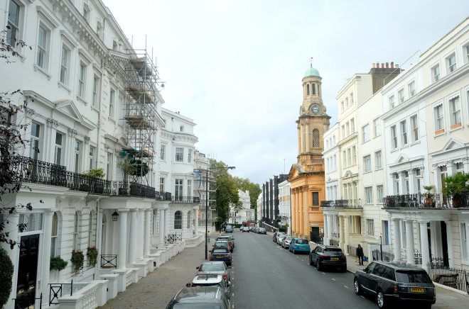 Notting hill, quartier coloré à Londres