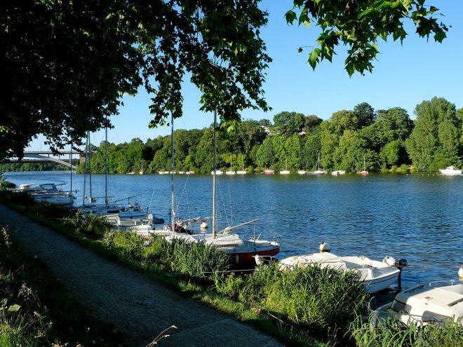 Quais de l'Erdre à la Jonelière à Nantes en juin 2018
