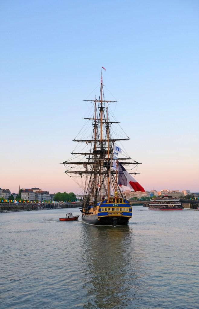 Débord de Loire 2019 : l'Hermione à Nantes