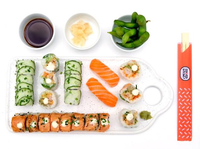 Makis à emporter chez Suko sushi restaurant japonais à Nantes et Rezé