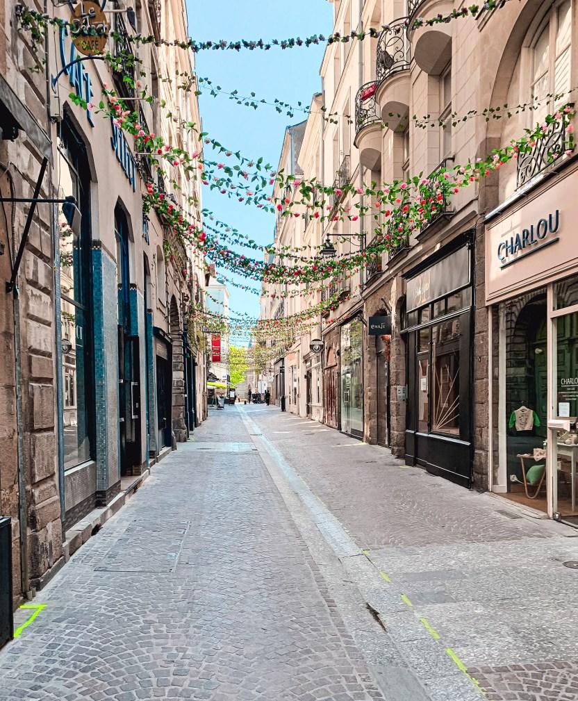 Rue du Château à Nantes