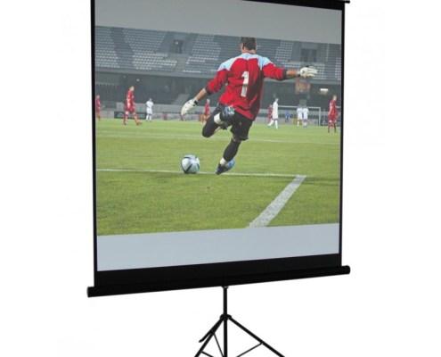 Ecran vidéo blanc mat trépied 200 x 200 cm - Nantes Sono - Location de matériel de sono de lumière et de vidéo à Nantes (44)