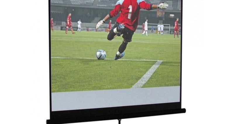 Ecran vidéo blanc mat trépied 200 x 200 cm - Sono 85 - Sono Nantes - Location et Vente de matériel de sono de lumière et de vidéo