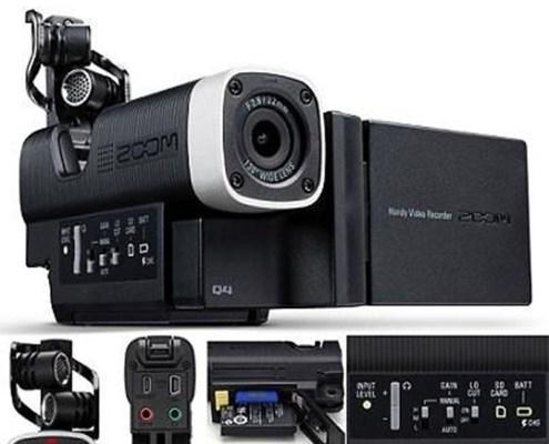 Enregistreur Audio & Vidéo Full HD Compact ZOOM Q4 - Nantes Sono - Location de matériel de sono de lumière et de vidéo à Nantes (44)