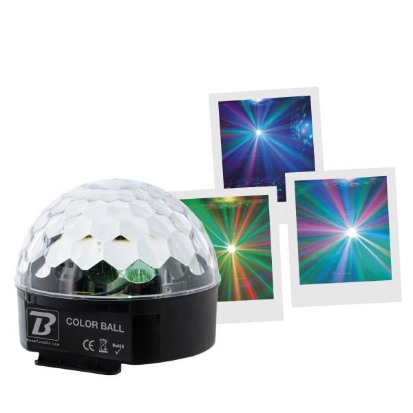 Jeux de Lumières à effets à Led BOOMTONE DJ Color Ball - Nantes Sono - Location et vente de matériel de sono de lumière et de vidéo à Nantes (44)