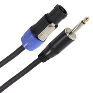 Câble HP 2 x 1.5mm² Jack Mâle - Speakon Mâle 10m PLUGGER Easy - Sono 85 - Sono Nantes - Vente de matériel de sonorisation de lumière et de vidéo - France