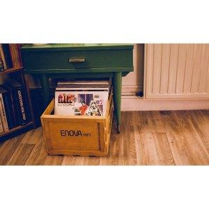 ENOVA HIFI CAISSE STOCKAGE 120 LP - FINITION BOIS - Sono 85 - Sono Nantes - Location et Vente de matériel de sono de lumière et de vidéo