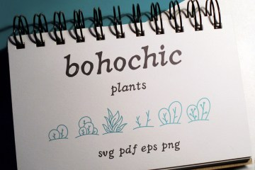 100 Boho-Chic Plants Vectors