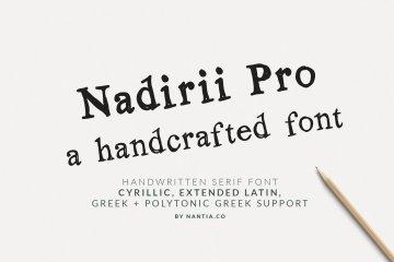 Nadirii Pro Greek Cyrillic Font