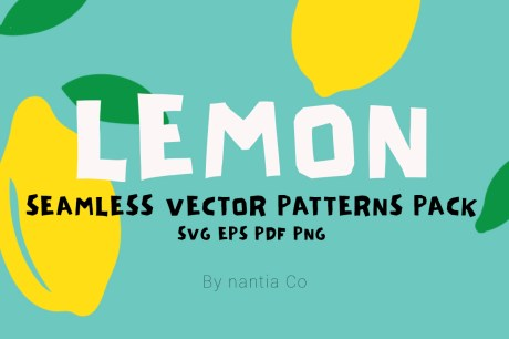 Lemon Seamless Vector Patterns