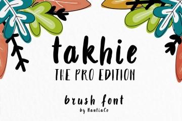 Takhie Pro Multilingual Brush Font