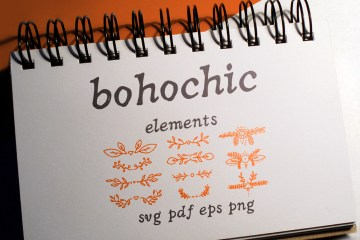 Boho-Chic Elements Vectors