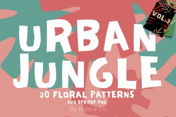 20 Urban Jungle Pattern Vol.3