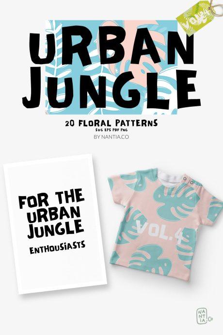 Seamless Patterns 20 x Urban Jungle Vol 4
