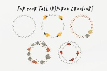 Free Fall Wreaths Vector Pack