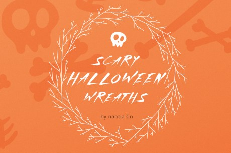 Super Scary Halloween Wreaths Vector Pack